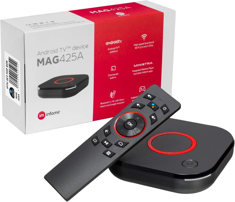 mag 425A Infomir & HB-DIGITAL 4K IPTV Set Top Box Android TV 8.0 ...