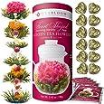 Teabloom Heart-Shaped Flowering Tea - 12 Assorted Fruit & Jasmine Blooming Tea Gift Set