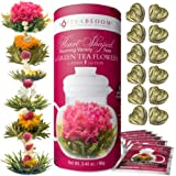 Teabloom Heart-Shaped Flowering Tea - 12 Assorted Fruit & Jasmine Blooming Tea Gift Set