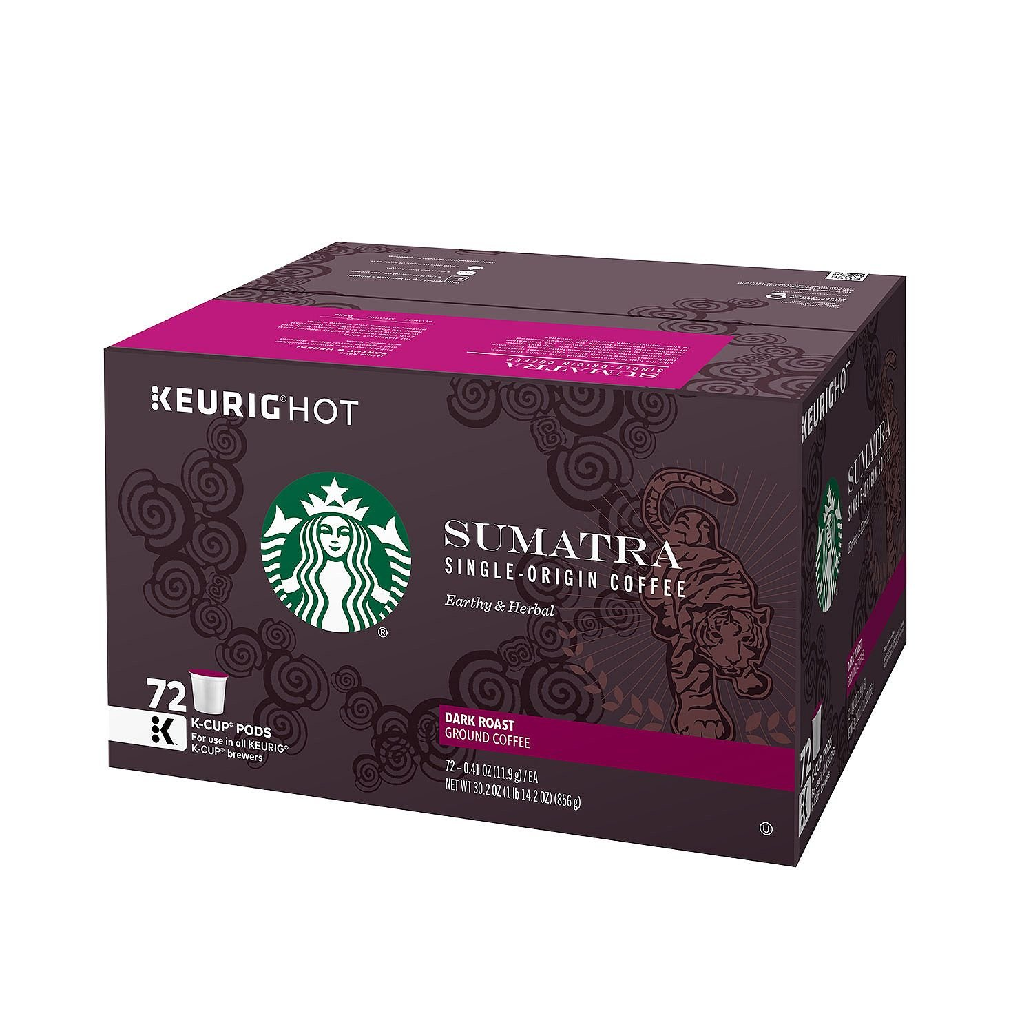 Starbucks 72 Count Sumatra Coffee, 0.41 Ounce by Starbucks