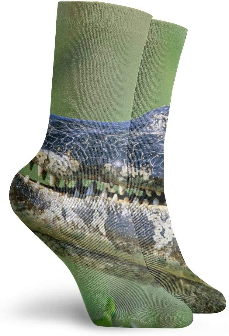 WEEDKEYCAT Crocodile with Butterflies Adult Short Socks Cotton Cute Socks for Mens Womens Yoga Hiking Cycling Running Soccer Sports