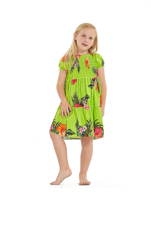 Hawaii Hangover Mädchen Hawaiian Kurzarm Elastische Top Kleid in ...