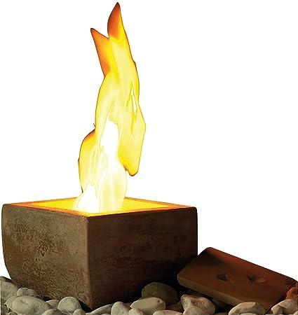Estufa de etanol de Carlo Milanocon aspecto de terracota, fuego de decoración: Amazon.es: Hogar
