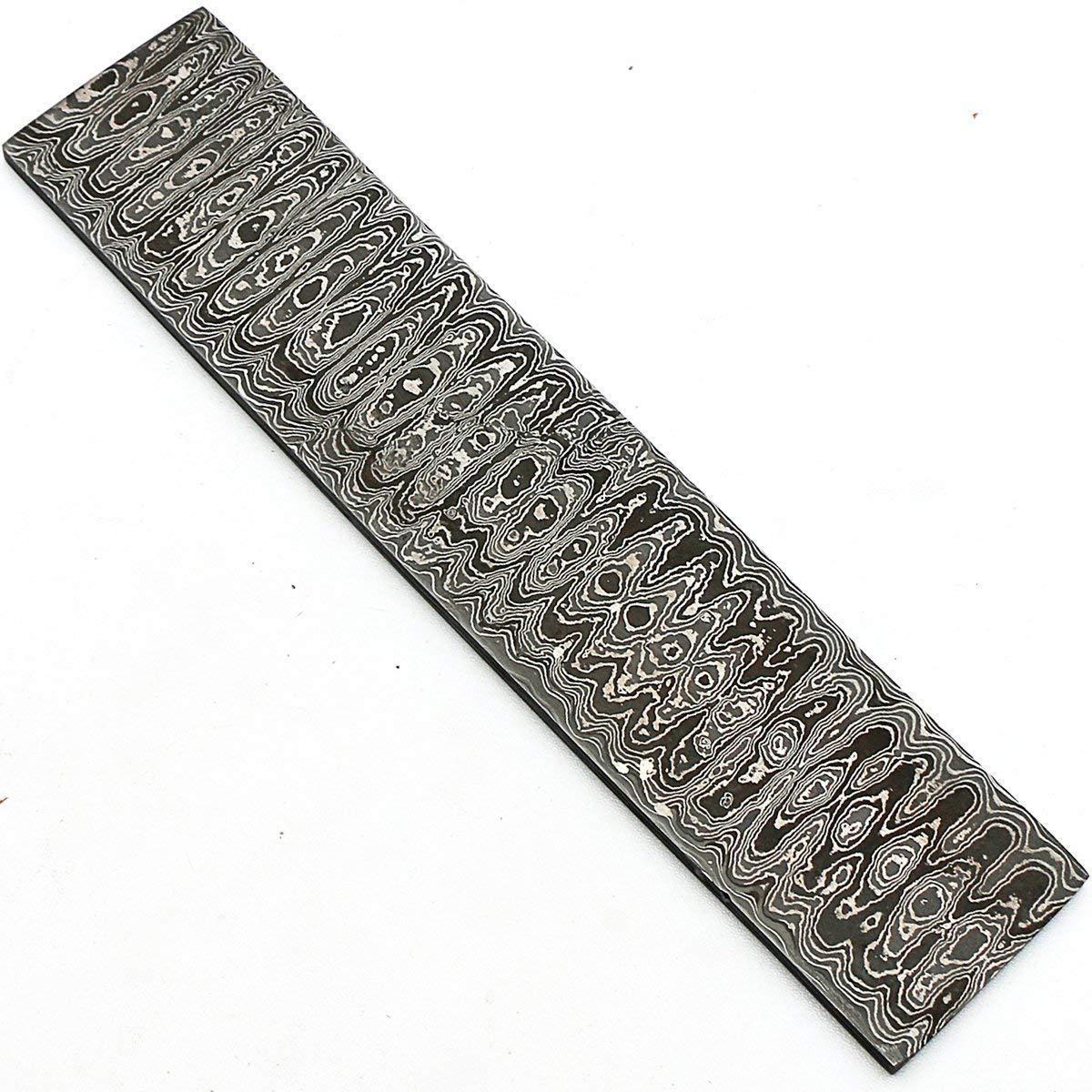 Tocho de acero de damasco hecho a mano con patrón de ...
