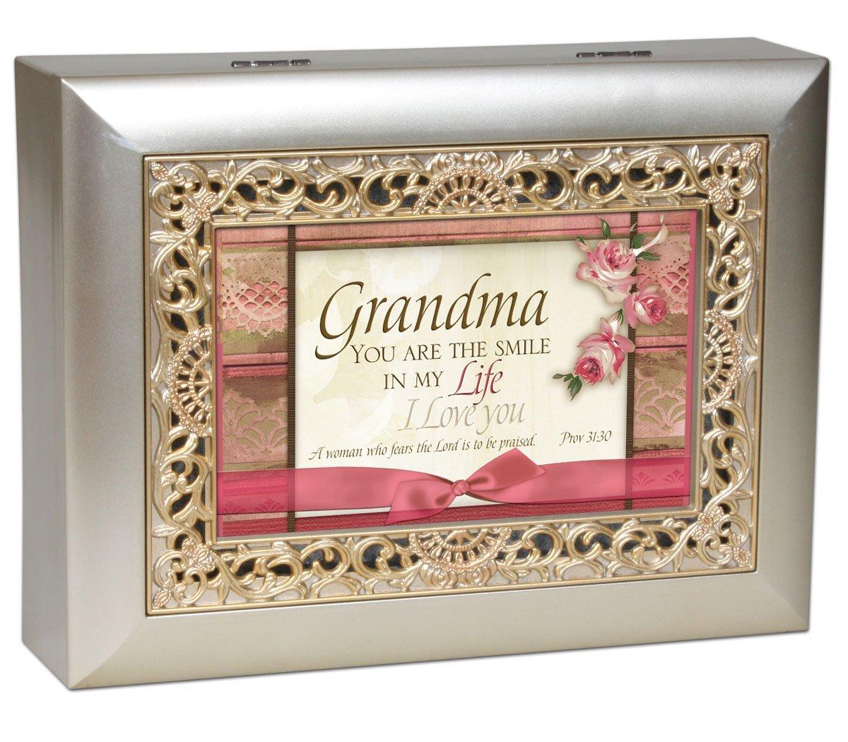 【即発送可能】 Grandma Cottage Garden Inspirational Champagne Silver Ornate Inspirational Grandma Music Cottage Box Plays Amazing Grace B007P7ZQP0, TUXEDO STATION:bc0b7e48 --- arcego.dominiotemporario.com