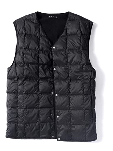Jet Blue Reversible V-neck Button Down Vest 124-98-0002: Black