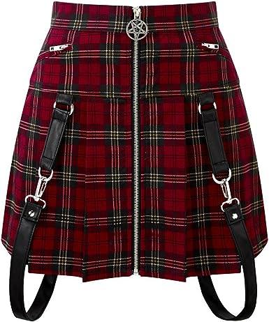 Killstar Mini - Falda plisada rojo XXL: Amazon.es: Ropa y accesorios
