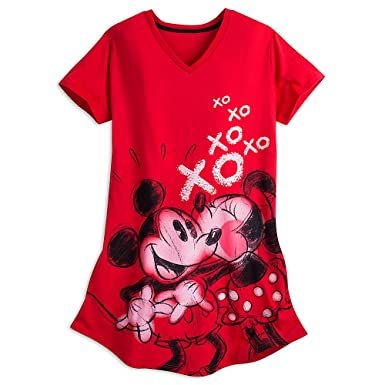 Amazon.com  Disney Mickey and Minnie Mouse Nightshirt for Women Size ... a67e61d75
