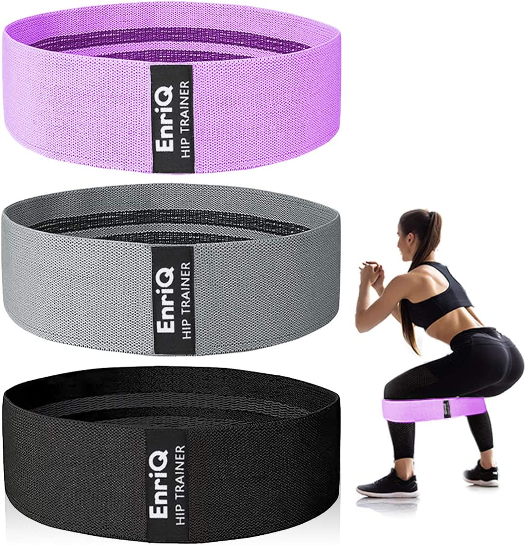 Resistance Bands Booty Bands Hip Bands for Legs and Butt Fabric Exercise Bands Cloth Workout Bands for Women Men Resistance Loops Anti Slip Thick Wide Circle Hips Glute Set of 3