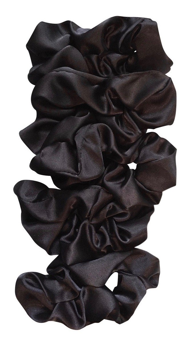 Amazon Com Silk Hair Scrunchies 2 Pack Black Beauty