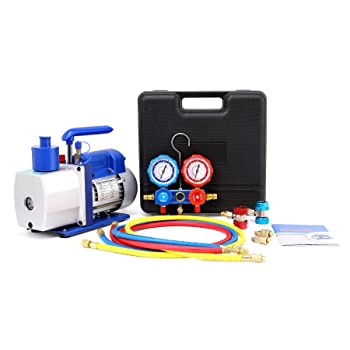 Orion Motor Tech 5CFM HVAC Vacuum Pump