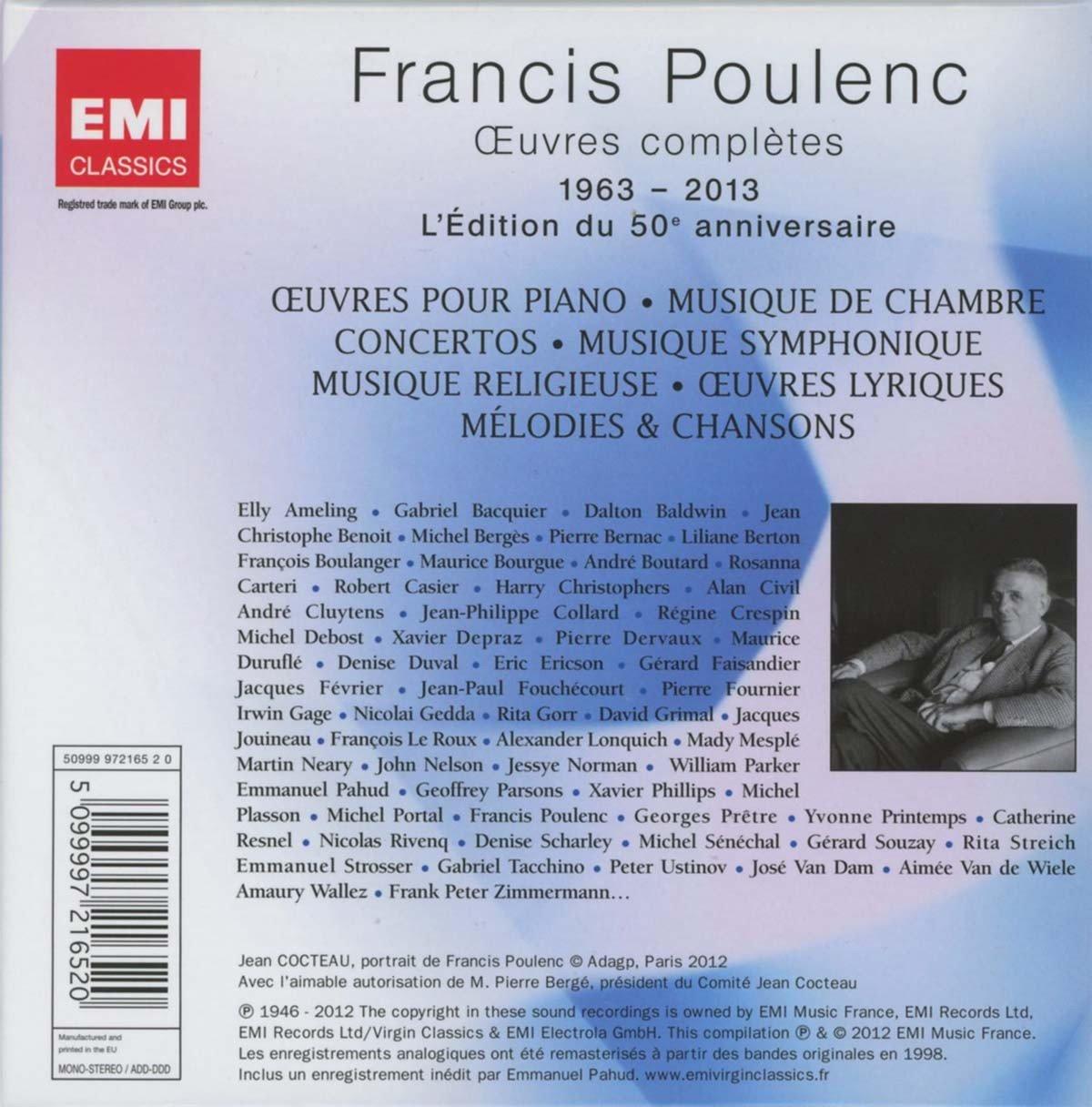 Francis poulenc uvres compltes francis poulenc amazon musique fandeluxe Images