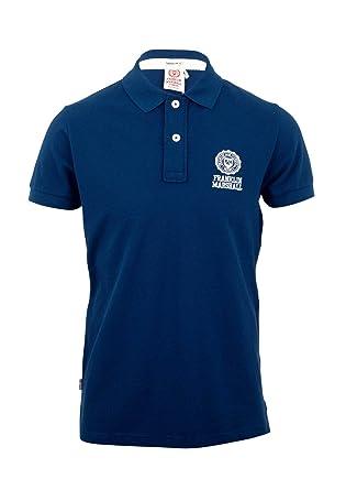 d683ce01 Franklin & Marshall Men's Short Sleeve Polo Shirt Original Blue (XXL ...