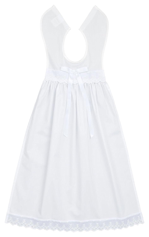 Bateo Design Baby Taufaufleger mit Spitze und Schleife Weiß