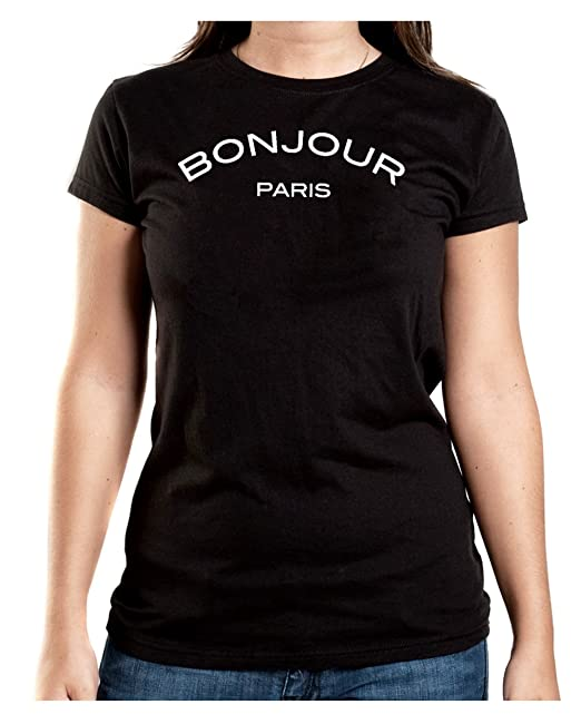 Bonjour Paris T-Shirt Girls Negro-S