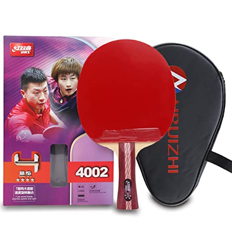 d5c99a34d9f DHS 4-Star 4002 Shake Hand Premium Table Tennis Racket Ping Pong Paddle  Blade Inverted
