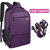 Lapacker 17-Inch Water Resistant Business Laptop Backpack for Women - Purple