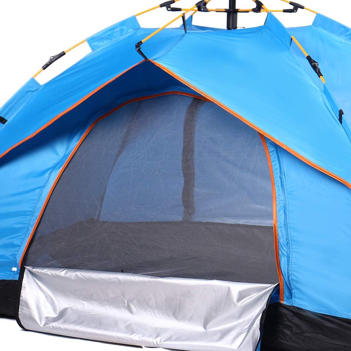 Robasiom 1-2 personen enkele laag volledige automatische camping tent vouwen dikke regendicht buiten wandelen reizen ORANJE ORANJE