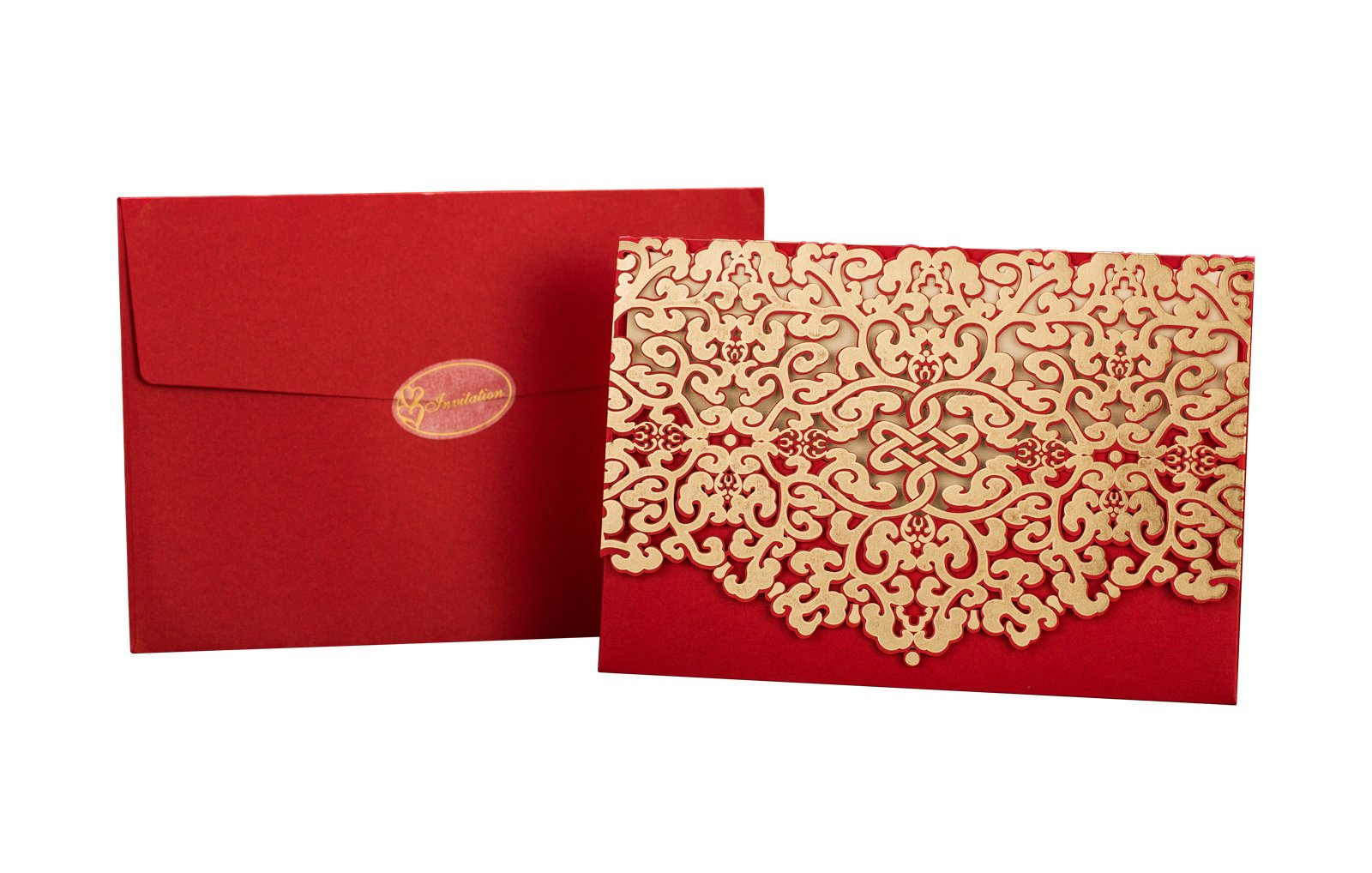 50pcs Elegant Laser Cut Wedding Invitations Cards with Envelopes and ...