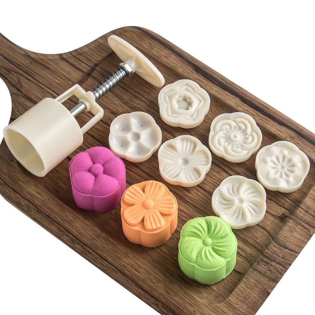 CN-Culture molde para tartas Sello para galletas 50 g dise/ño de luna prensa de galletas 6 unidades de moldes para tartas decoraci/ón de oto/ño medio