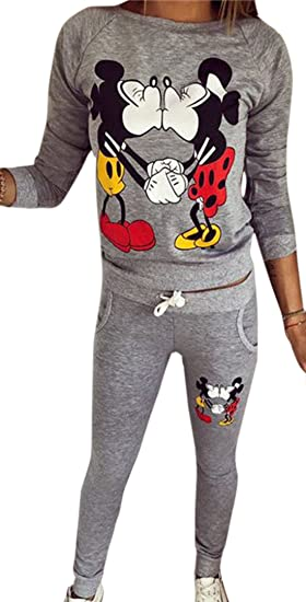 shop best sellers new lifestyle best wholesaler erdbeerloft - Damen Jogginganzug mit trendy Cartoon Print, XS-XL