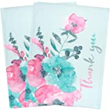 BIOBROWN Bubble Mailers Flower Print Thank You Design for Shipping-10x13inch-25pcs,Pink
