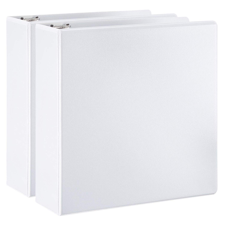 AmazonBasics D-Ring Binder - 3 Inch, 2-Pack by AmazonBasics