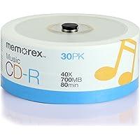 Memorex 32020016609 CD-R 80 40x Eco Spindle Discs, 30 Pack