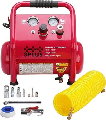 3PLUS HCB0504M02 1 Gallon Quiet Air Compressor