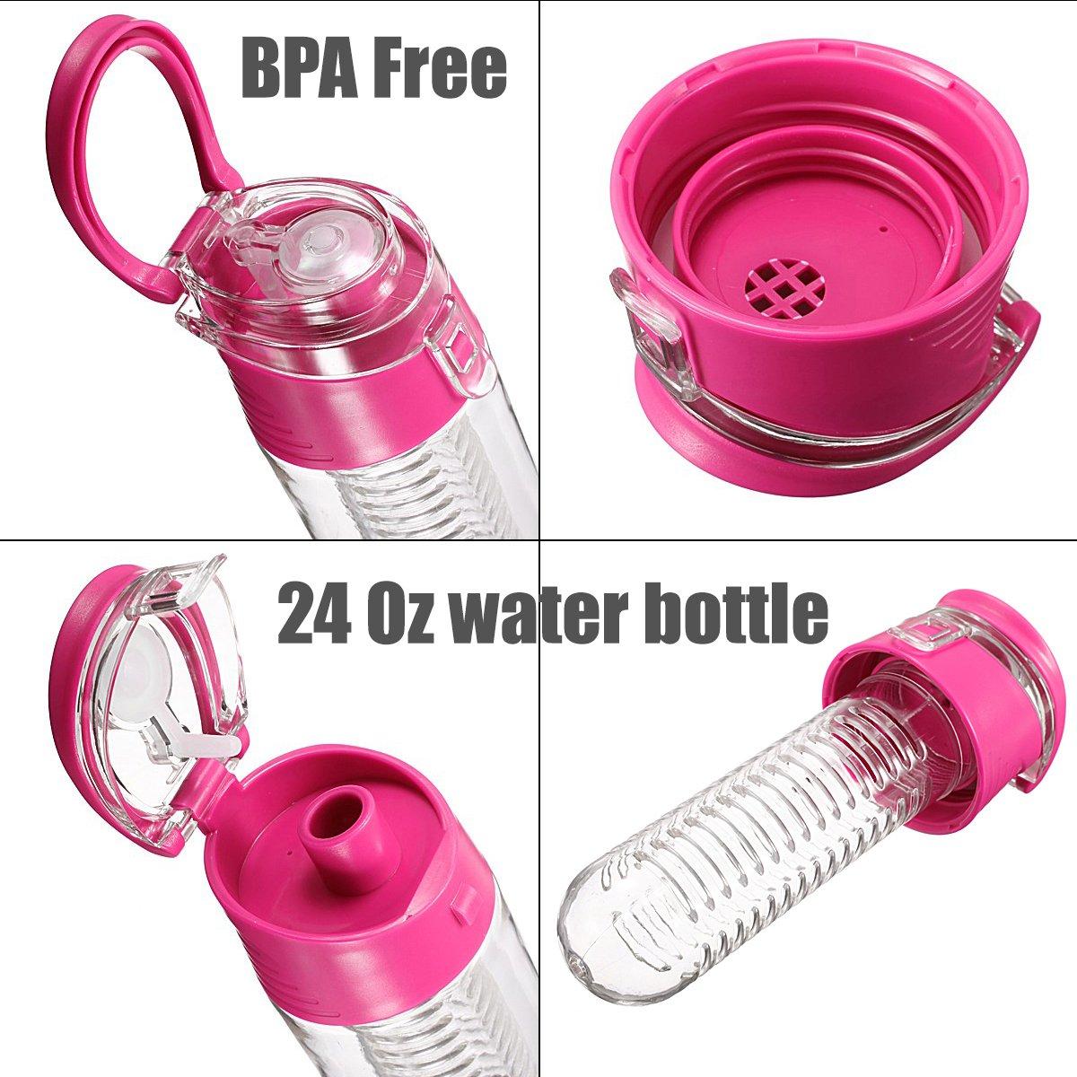 Amazon.com: Fruta Infusor botella de agua 24 oz Bebida ...