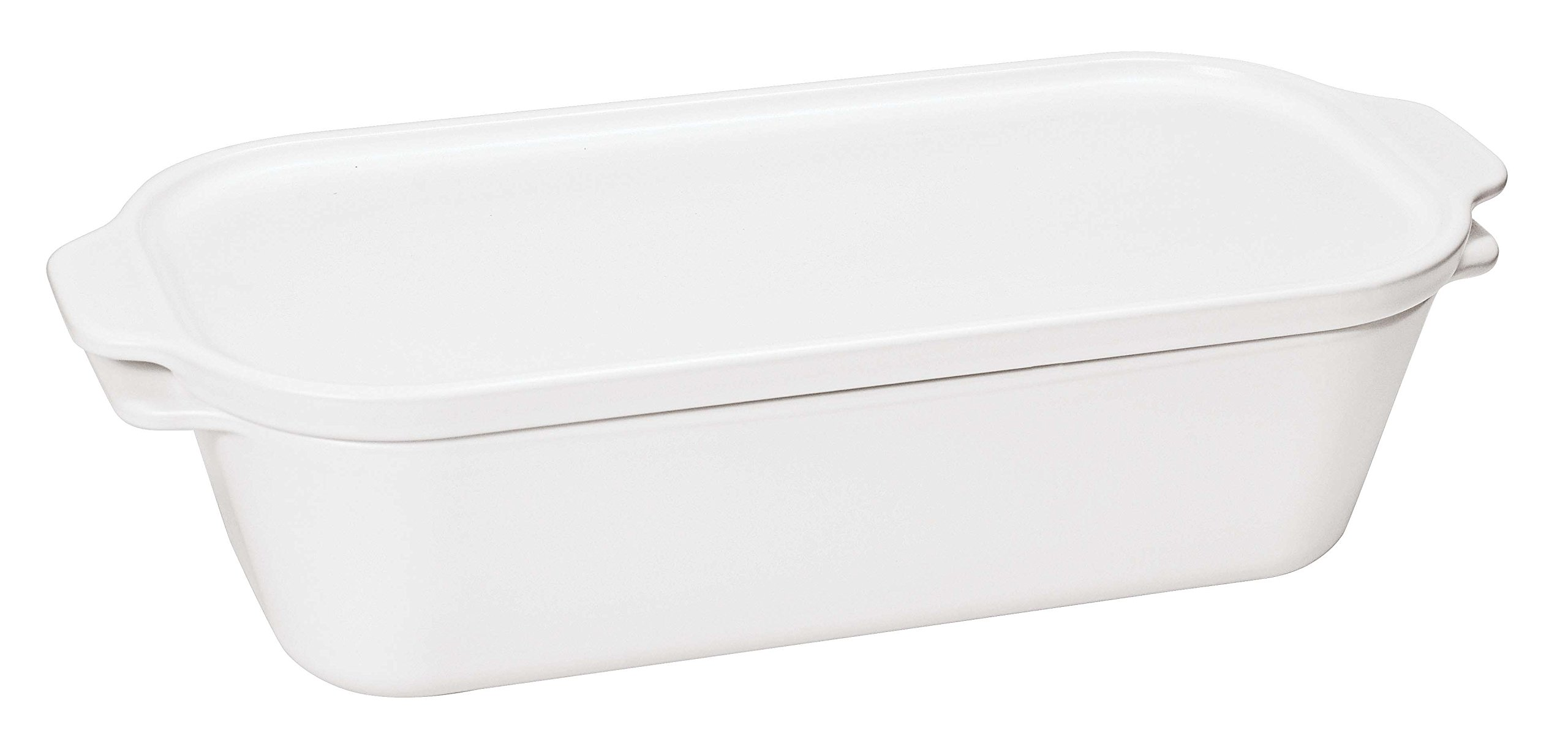 Paderno World Cuisine White Ceramic Terrine Mold with Lid, 1 3/4-Quart by Paderno World Cuisine