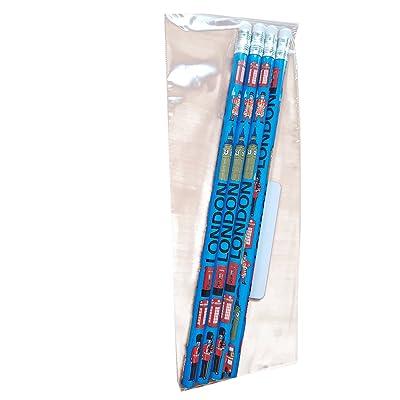 fantaisie Crayons–4dans un Lot–Souvenir–L'école salle de classe étudiant crayon/Lapiz/Bleistift/Matita–avec/gomme en caoutch
