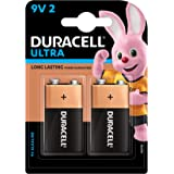Duracell Ultra Alkaline 9V Batteries (Pack of 2)