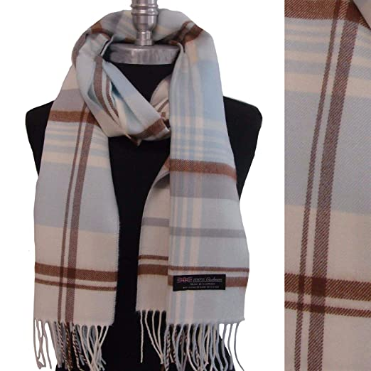 f35f2a0fa455c Womens Long Cashmere Scarf Tartan Nova Check Plaid Scotland Soft ...