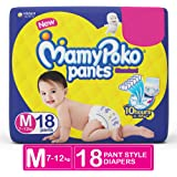 MamyPoko Pants Standard Medium Size Diapers (18 Count)