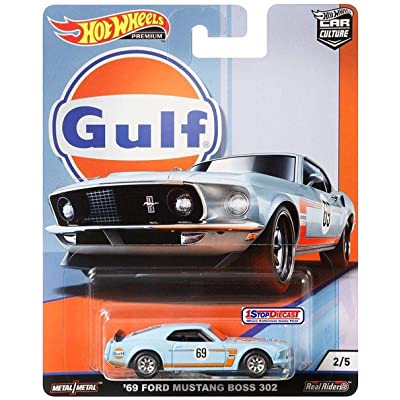 Hot Wheels Car Culture Gulf Oil Series 2/5 - '69 Ford Mustang Boss 302 - Real Rides Have Real Rubber Tires! Great Collectors Item!: Toys & Games