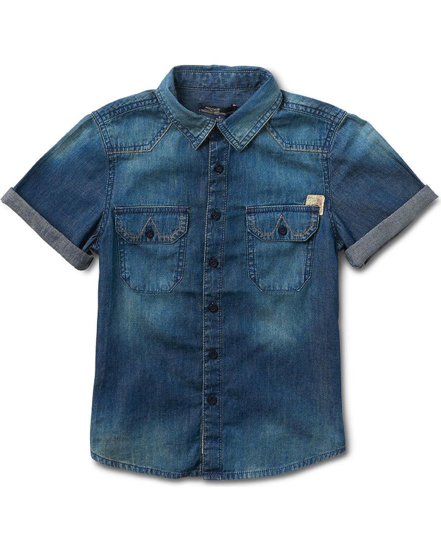 Silver Boys Indigo Short Sleeve Denim Shirt 1762858