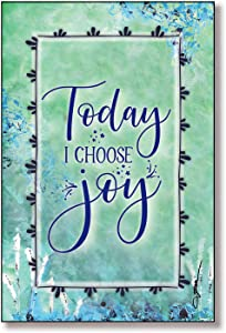 "Today I Choose Joy Wood Plaque with Inspiring Quotes 6""x9"" - Classic Colorful Vertical Frame Wall & Tabletop Decoration 