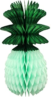 product image for 3-Pack 13 Inch Honeycomb Pineapple Party Decoration with Green Leaves (Mint)