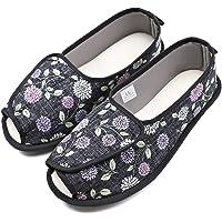 Women Slippers Adjustable Closures Nonslip House Extra Wide Sandal Shoes for Elderly Diabetic Swollen Feet