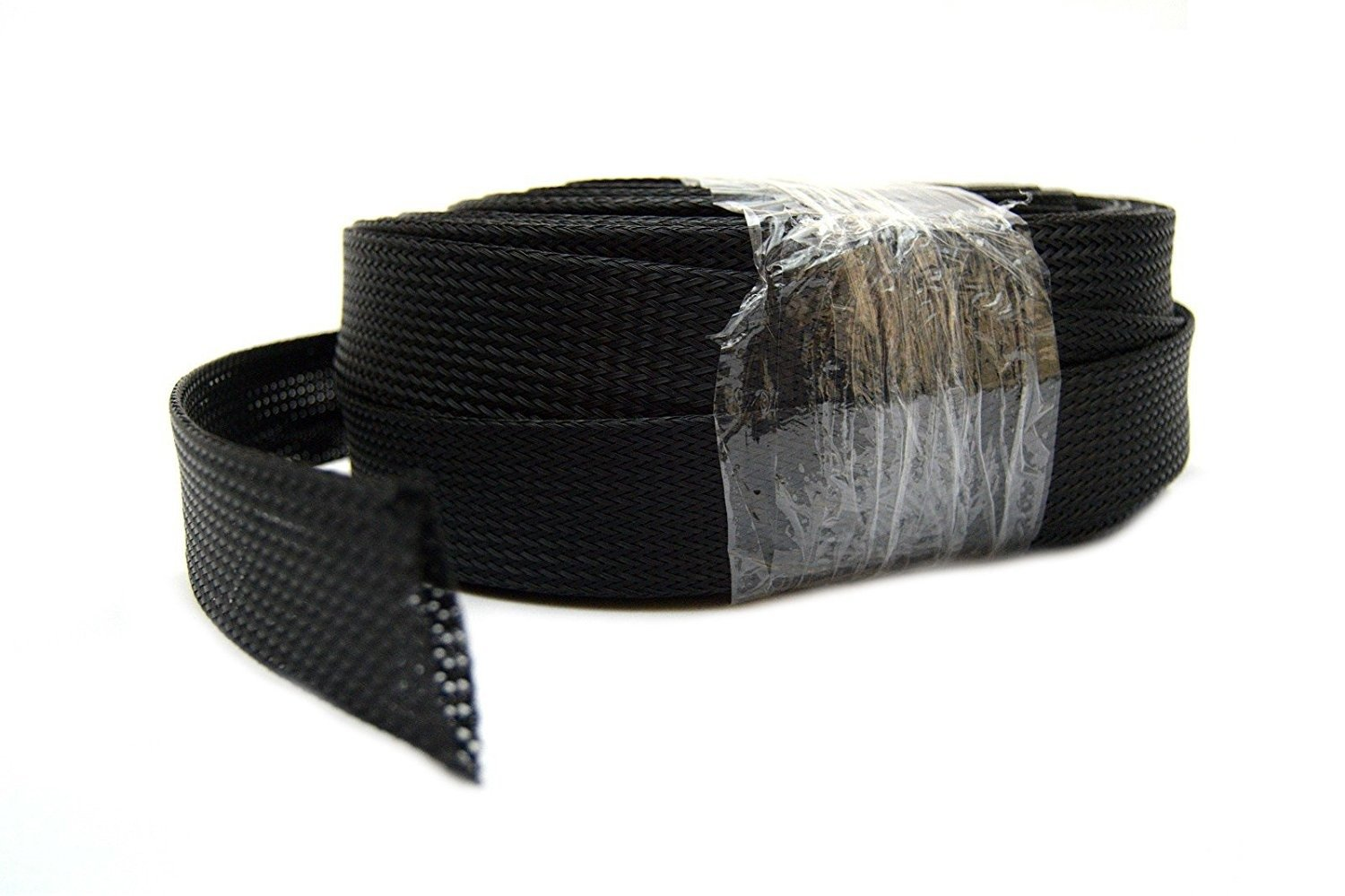Braided Expandable Loom 100' Feet 1.5'' 38mm Black Wire Harness Cover Sleeving
