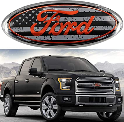 "7/""Inch For FORD F150 Black Front Grille Tailgate Emblem Oval Badge Nameplate"