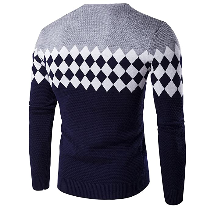20a5feedcb6 Col V Homme Pull Tricot Casual LâChe Pullover Slim Pas Cher à La Mode Chic  Chemisier Manche Longues Veste Pin Up Tops Hiver Chaud Sweater  Amazon.fr   ...