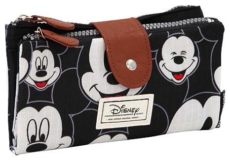 Karactermania Disney Classic Mickey Visages Monederos, 18 cm, Negro