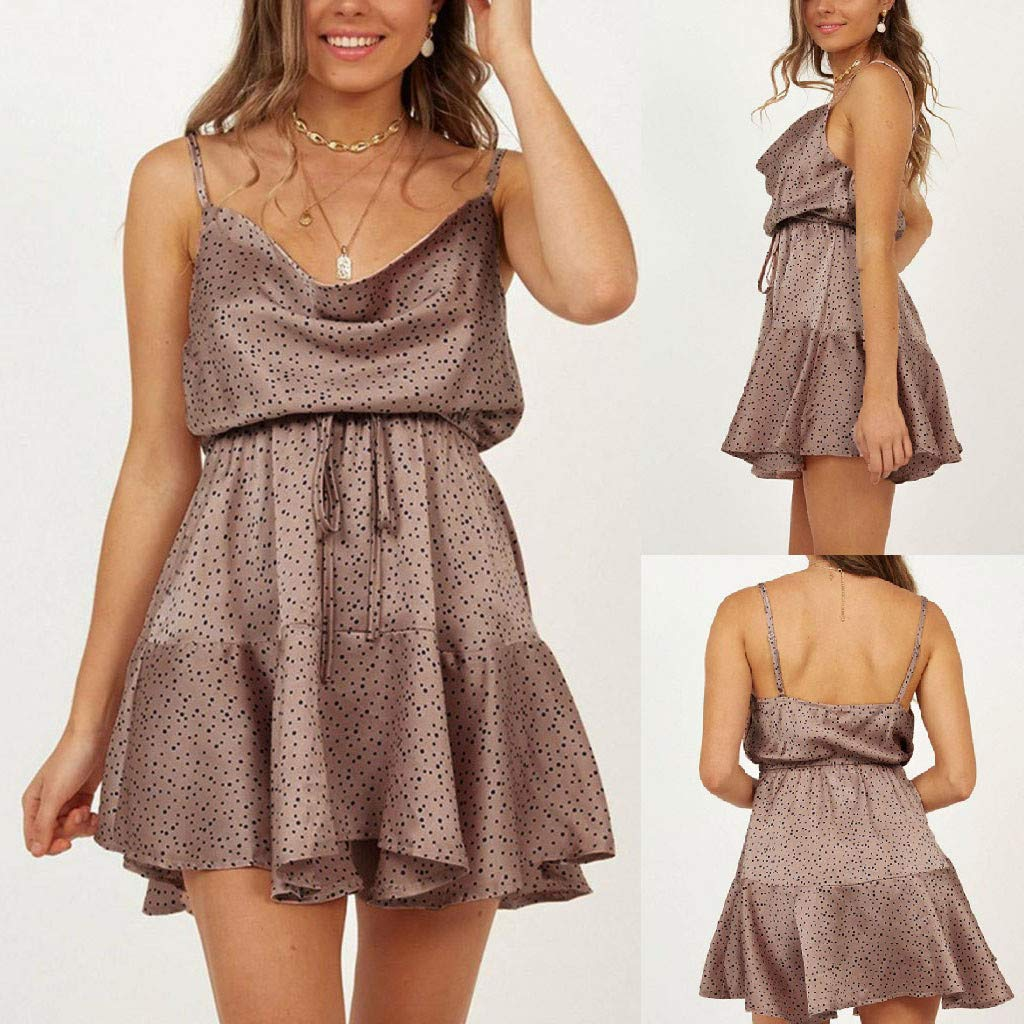 Cloudro DressTight Fitting Stand Collar Sleeveless Reflective Light Zipper Dress
