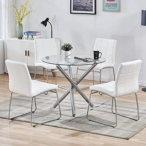 SICOTAS 5 Pieces Round Dining Table Set
