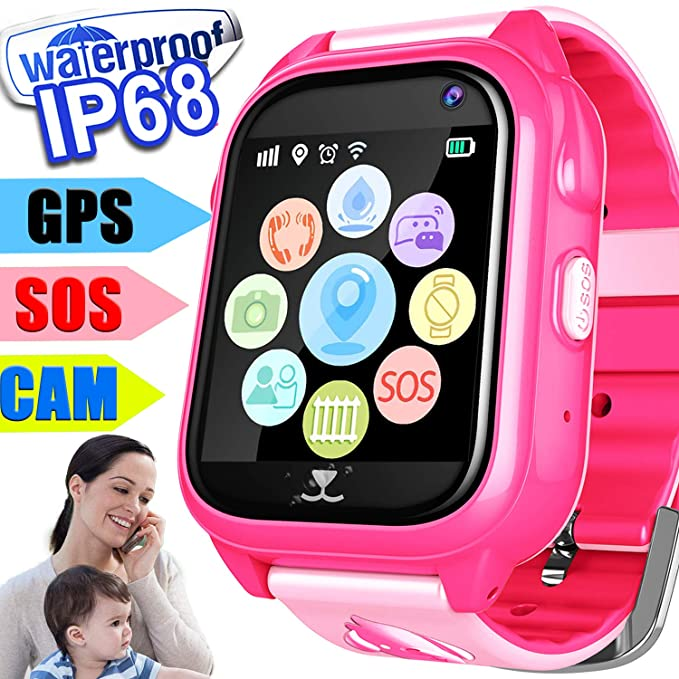 Amazon.com: REAL GPS Tracker Smart watch Phone for Kids Boys ...