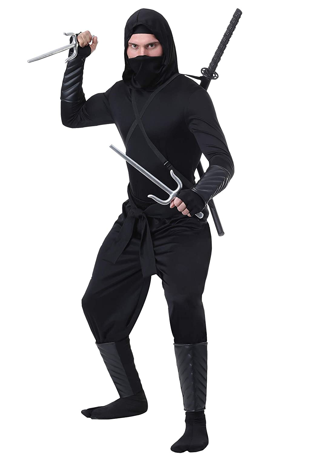 Adult Stealth Shinobi Ninja Fancy Dress Costume Small ...