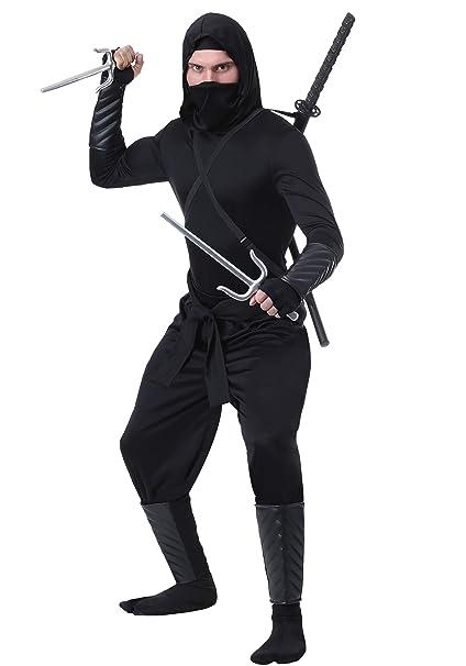 Adult Stealth Shinobi Ninja Fancy Dress Costume Small ...