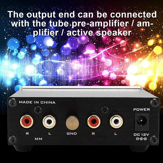 Garsent Preamplificador de fonógrafo MM, preamplificador de Audio ...